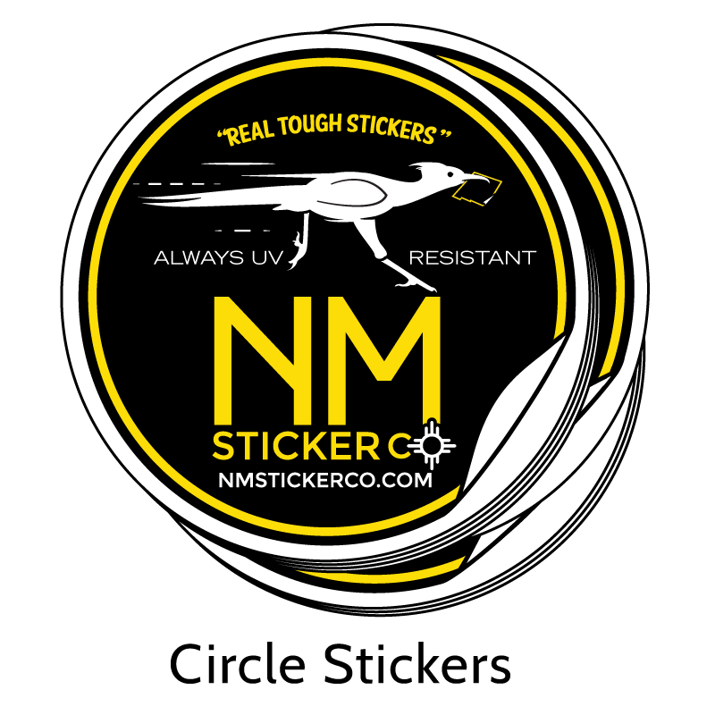 Real Tough Circle Stickers from New Mexico Sticker Company