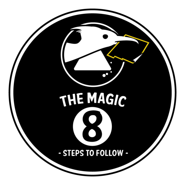 Magic 8 Steps of Ordering Stickers from New Mexico Sticker Company
