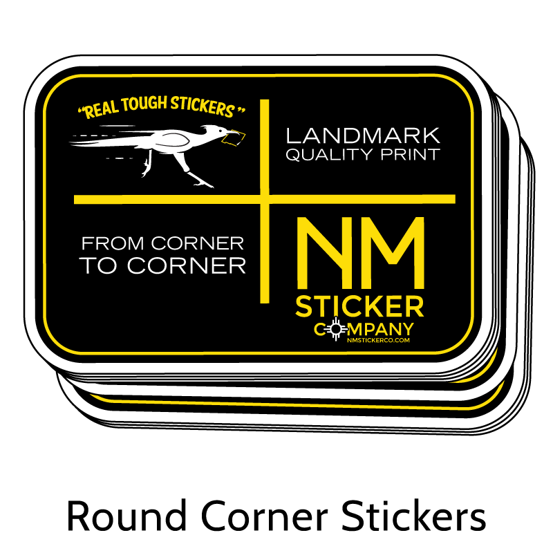 Real Tough Rounded Corner Stickers from New Mexico Sticker Company