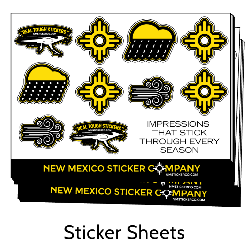 Real Tough Sticker Sheets from New Mexico Sticker Company