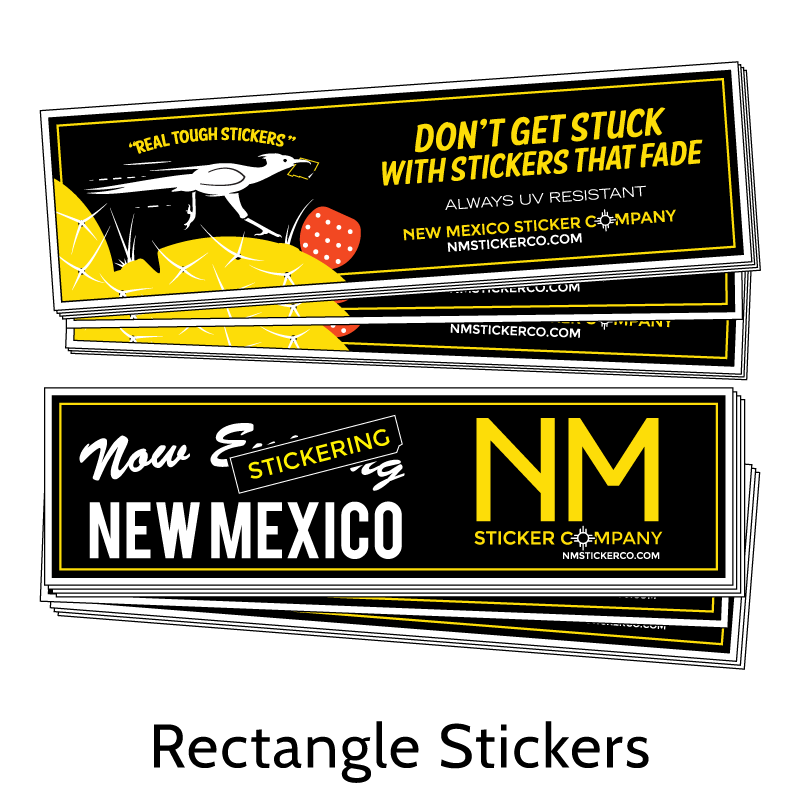 Real Tough Rectangle Stickers from New Mexico Sticker Company