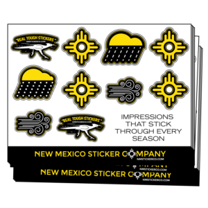 Visual representation of what an actual Sticker Sheet might look like